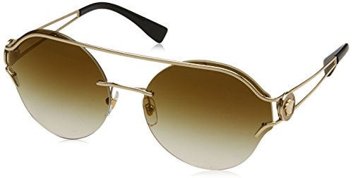 Versace Damen 0VE2184 12526U 61 Sonnenbrille, Pale Gold/Gradientbrownmirrorgold