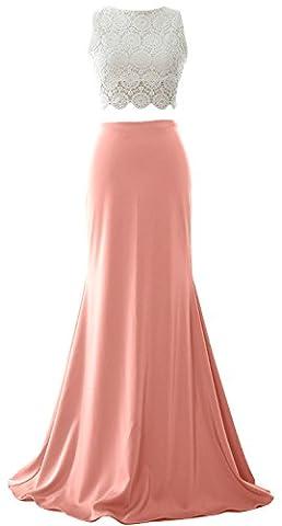 MACloth Women Mermaid 2 Piece Long Prom Dress 2017 Jersey