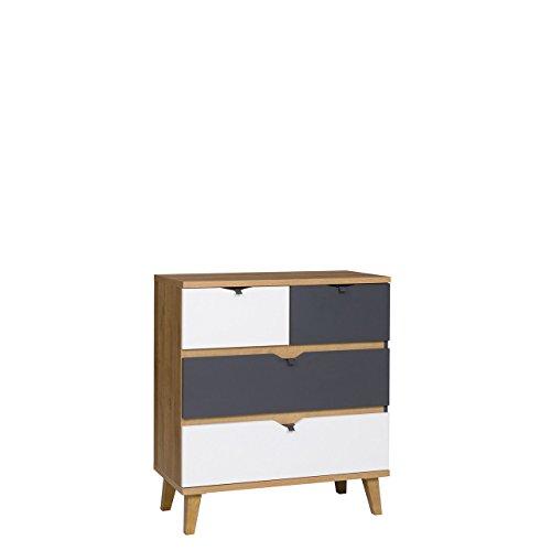 Mirjan24 Kommode Memone TM05 mit 4 Schubladen Sideboard Schubladenkommode für Jugendzimmer Highboard Kleiderschrank...