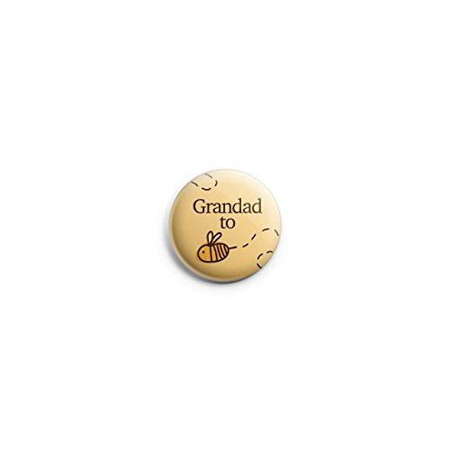 Promofix 'Grandad to Be Bumble Bee Cute Baby Dusche Ankündigung Geschenk Button Pin Badge 38M