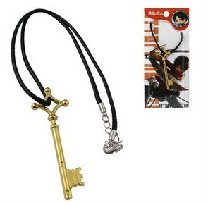 fate-gintama-tokyo-ghoul-one-piece-attack-on-titan-fairy-tail-sao-porte-cles-collier-cle-noir