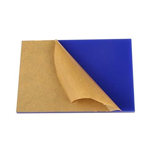 LZYCYF Blau Perspex Acrylglasplatte Kunststoffrohstoffe Polycarbonat Uv Platte 1PC-Thickness 3,200x200mm
