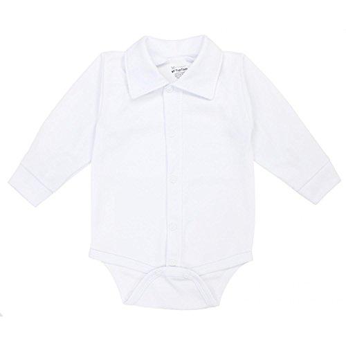 TupTam Baby Jungen Langarmbody mit Kragen, Farbe: Weiß, Größe: 62