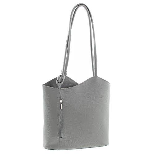IO.IO.MIO Leichter Damen Leder Rucksack Handtasche Schultertasche Henkeltasche Daypack Tagesrucksack...