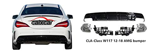 CAIXCAR C117 CLA AMG Difusor cola de escape embellecedor rear bumper