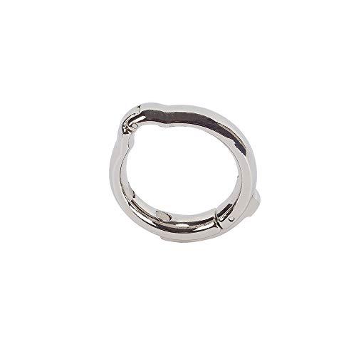 WEIMOB Metall Penisring Eichelring Vorhaut-Behandlung Magnettherapie Cock Ringe Ejakulationsverzögerung Verstellbar - Größe: S