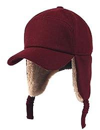 LIXUE Cálido Gorro para Mujer Otoño e Invierno Cálido Felpa Esquí Volador  Protección para el oído Gorra de béisbol… 1498b2fe333