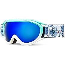 Roxy Loola 2.0 Goggles Snowboard/Esquí, Mujer, Blanco (Bright White), Talla Única