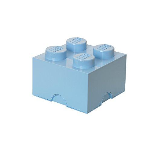 Preisvergleich Produktbild LEGO Lizenzkollektion 40031736 - stapelbare Aufbwahrungskiste, 4 Noppen, hellblau