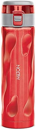 Milton Stylish 500 Thermosteel Hot or Cold Water Bottle, 500 ml, Red