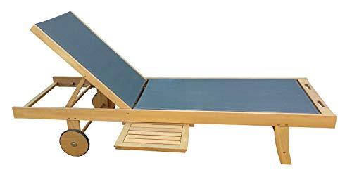 vanvilla Sonnenliege Gartenliege Holz Relaxliege Liegestuhl ALABEL