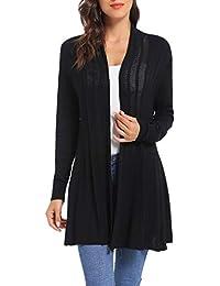 90c0bfd1ba31d iClosam Gilet Femme Long Tricot Veste Femme Longue Pull Gilet Femme Manches  Longue