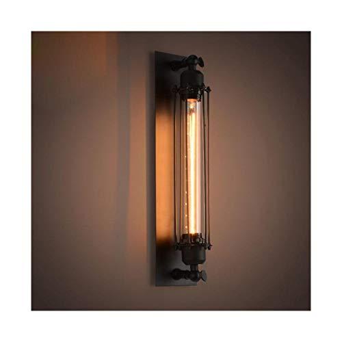 WYZSZMF Industrielle Wind Wandlampe Antike Schmiedeeisen Wandlampe Amerikanische Retro Wandlampe Restaurant Cafe Flute Wandlampe (ohne Glühbirne) Wandleuchte einstecken (Farbe -
