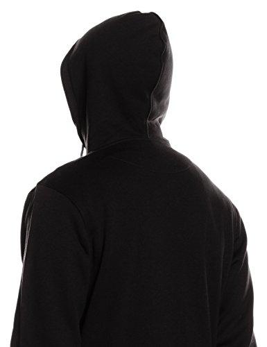 Urban Classics Herren Sweatjacke Hooded College Sweatjacket Mehrfarbig (Blk/Gry 29)