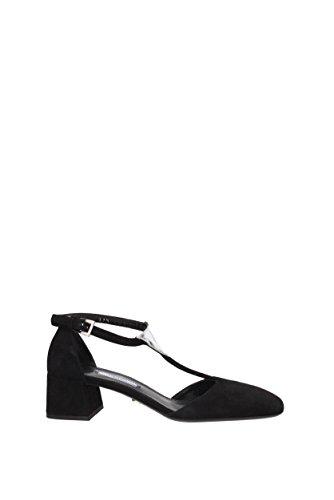 Sandales Prada Femme - Suède (1I363F) EU Noir