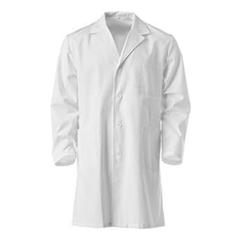 Blouse blanche de chimie, taille 10 à 16 ans, 100% coton, pour laboratoire scolaire (10ans)