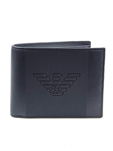Emporio Armani billetera hombre navy blue