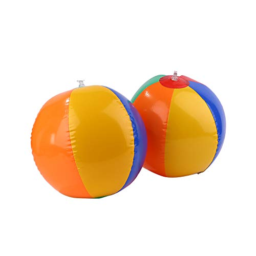 Anyutai Outdoor Sport Colors Inflatable Balloons Beach Ball Swim Fun Kids Water Toy Neu