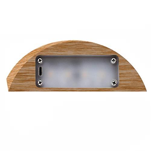 TOOGOO LED Nacht Licht Natural H?Lzerne Dimmbare Nacht Lampe Augen Schutz Schreibtisch Lampe USB Lampe WC Licht Haus Dekoration Zubeh?R Geschenk Licht Holzmaserung
