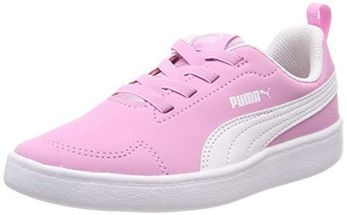 Puma Courtflex PS Scarpe da Ginnastica Basse Unisex-Bambini, Rosa (Pale Pink White), 31 EU
