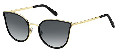 Fossil fos 2087/s, occhiali da sole donna, blk gold, 55