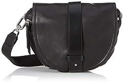 Liebeskind Berlin Damen Soft Bucket-Belt Bag Umhängetasche, Schwarz (Black), 3x16x22 cm