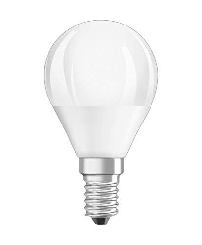 Osram LED Star Classic P Lampe, in Tropfenform mit E14-Sockel, nicht dimmbar, 5,7 W=40 Watt, Matt, Warmweiß - 2700 Kelvin, 6er-Pack