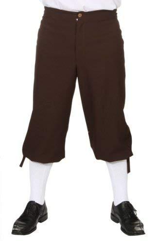 ORLOB KARNEVAL GmbH Pantaloni da uomo al ginocchio marrone Taglia 58/60 Medieval Pirate Costume Accessori Carnevale
