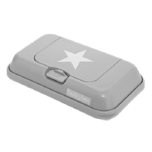 Funkybox Feuchttücher-Box, Grau mit weißem Stern