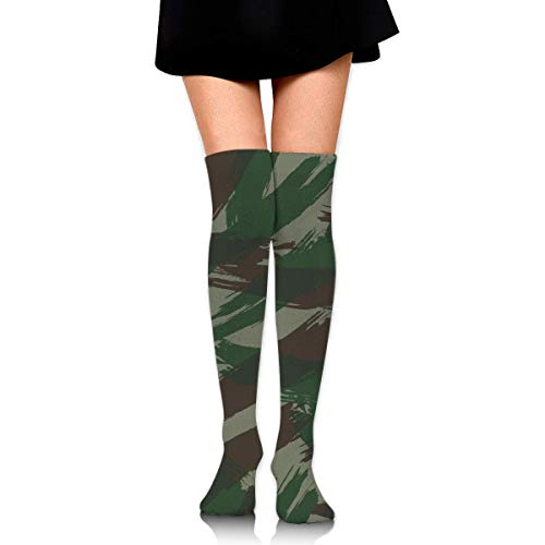 deyhfef Green Brown Painting Women's Knee High Socks Fancy Design, Best For Running, Athletic Sports,Yoga.