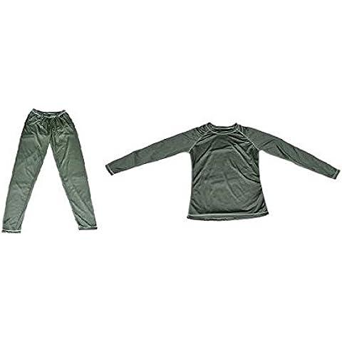 engranaje de la infiltración de tamaño L Pecho de 40 pulgadas anti-olor de la ropa interior Thermo Camisa - verde oscuro