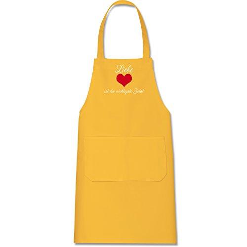 Shirtracer – Schürze mit Motiv – Liebe ist die wichtigste Zutat – Schürze und Kochschürze für Erwachsene