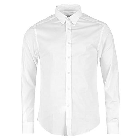 Versace Collection Woven Herren Shirt Langarm Baumwolle Knopfverschluss Hemd M (39/40)