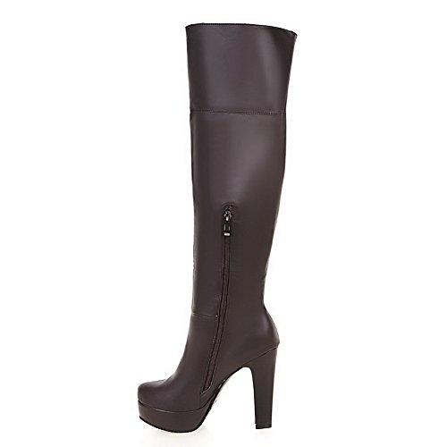 VogueZone009 Damen Knöchel Hohe Spitz Zehe Hoher Absatz Stiefel mit Wasser Diamanten, Weiß, 34