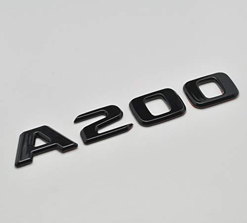 Nero lucido A200 Emblema distintivo di Benz Car Model Numbers Letters Badge per A Class Benz W176 W177 AMG
