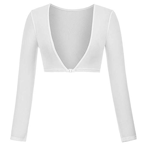 Rosennie Nahtlose Arm Shaper Short Cardigan Body Shaper für Arm Plus Size Seamless Arm Shaper Crop Top Shirt Perfekter Shaping Effekt Figurformende Shapewear Former Unterwäsche