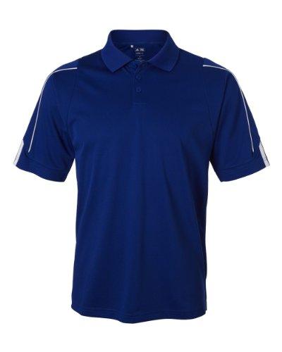 Preisvergleich Produktbild Men's climalite 3-Stripes Cuff Polo COLLEGE ROY/ WHT M