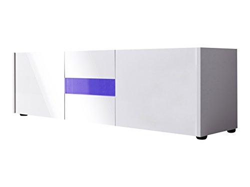 trendteam IM32001 TV-Möbel Lowboard weiß Hochglanz lackiert