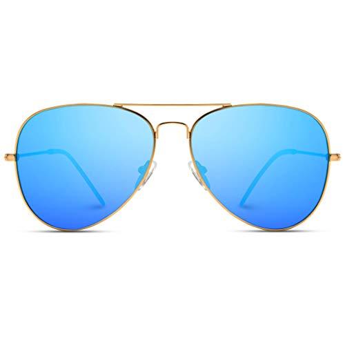 WearMe Pro Aviator Full Color Plateado Espejo metal gafas de sol