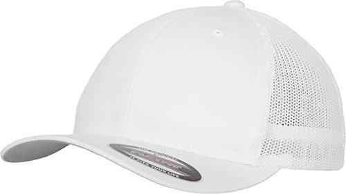 Flexfit Mesh Trucker Kappe, weiß (White), L/XL