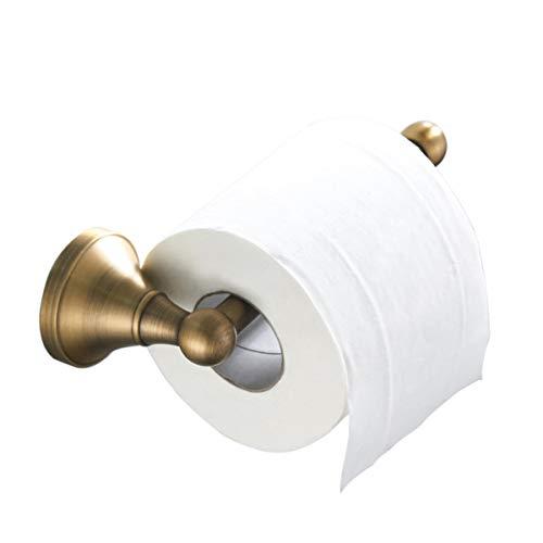 Flybath Toilettenpapierhalter ohne Deckel Antiquität Messing Bad WC-Rollenhalter Wandmontage, Bronze gebürstet -