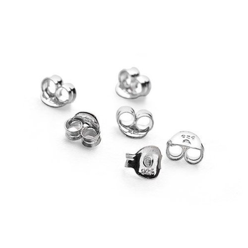 Pack of 20 Sterling Silver Butterfly Ear Earring Stud Backs (925 Stamped)