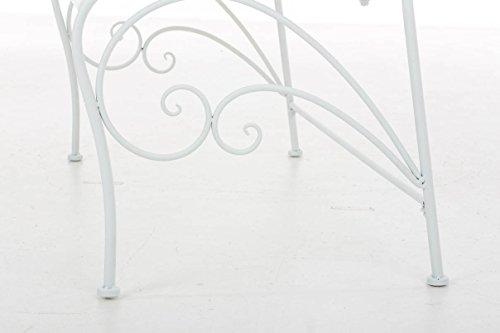 CLP Gartenbank FILIZ im Landhausstil, Eisen lackiert, ca. 105 x 55 cm – 2er Sitzbank Weiß - 8