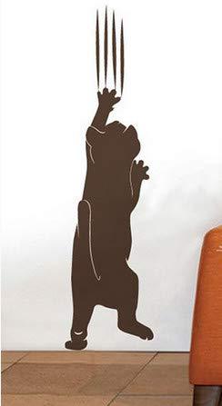 Cat Paw Grab Flache Wandaufkleber Vinyl Aufkleber Wandbild Tapete Abnehmbare Kinder Baby Room 15X60 cm Dekoration ()