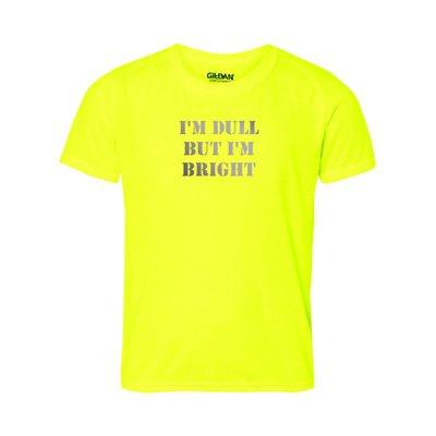 right Fun Reflektierende Schriftzug T-Shirt für Nerds Geeks oder langweilig Mädchen Frau, gelb (Geeky Geschenke Für Mädchen)