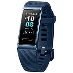 Huawei Band 3 Pro - Pulsómetro (GPS, HUAWEI TruSleep, monitoreo del ritmo cardiaco, 5ATM de resitencia al agua) color azul