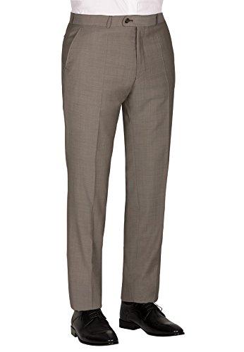 Michaelax-Fashion-Trade - Costume - Uni - Manches Longues - Homme Marron - Brown - Hellbraun (71)