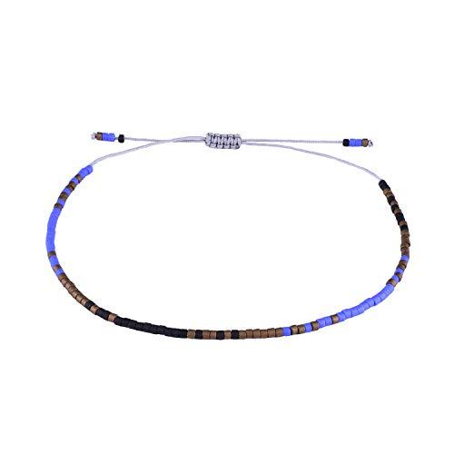 KELITCH Armbänder Damen Frauen Dünn Seil Rocailles Perlen Charme Strangarmband Freundschaft Armband Armbänder Herren Männer Freundschaftsarmbänder