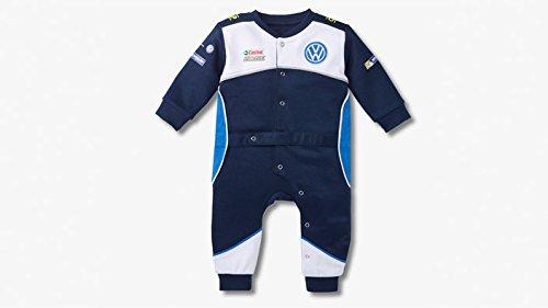 Volkswagen-Pijama-para-beb-original-de-Volkswagen-color-azul-diseo-de-mono-de-carreras