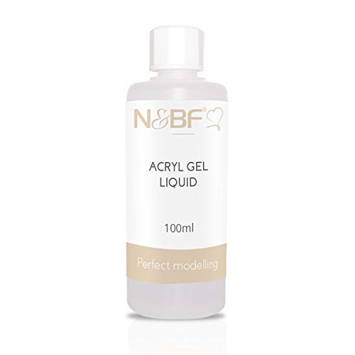 N&BF 100ml Comfort Acryl Liquid | hochwertige Profi Acrylgel Flüssigkeit | Acrylflüssigkeit für Modellagen mit Poly Acryl Gel | Geruchsneutral | Made in Germany - Pinsel-reiniger Acryl
